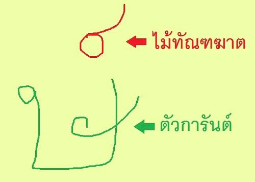 タイ語の黙字記号マイガーランとは?読まない字の種類と単語例